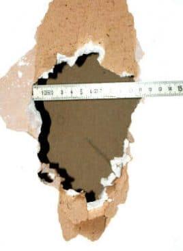 Rigipswand reparieren - flicken (1)