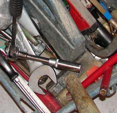 Lose Werkzeugaufbewahrung - wühlen unvermeidlich