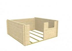 2. Schritt: Gartenhaus aufbauen - die Wände ringsum