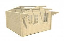 Gartenhaus aufbauen - das Dach montieren