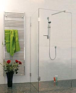 Glas Dusche ins Bad bauen