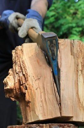 Holz spalten