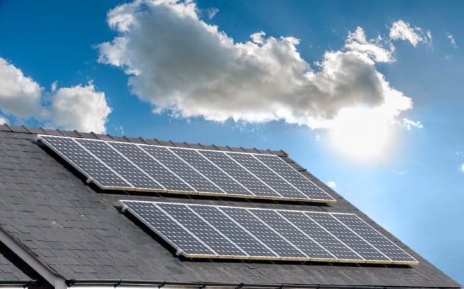 Energiesparhaus - Solarstrom