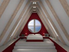 Mansarden Schlafzimmer