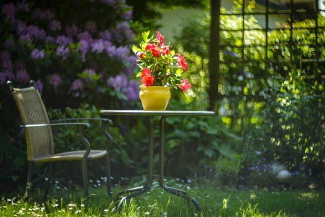 moderne Gartengestaltung - Elemente