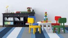 Spieltisch im Kinderzimmer