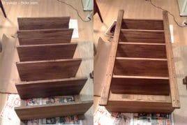 Holzregal fertig gebaut