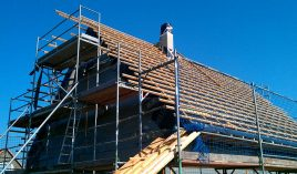 Hausbau - Dach decken - kann nicht jeder