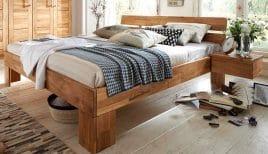 Schönes Bett Aus Eichenholz
