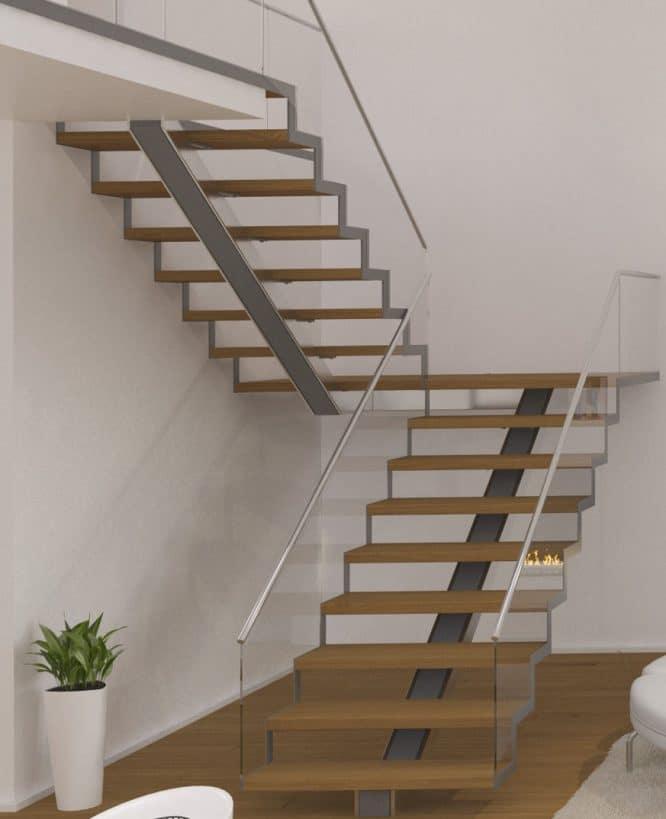 Treppe, die wenig Platz braucht