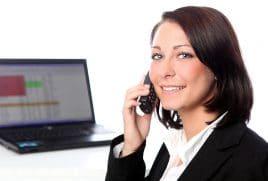 Telefonieren im Büro