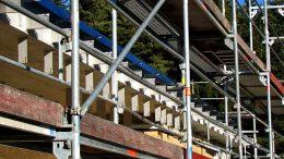 Baugerüst für Außenarbeiten