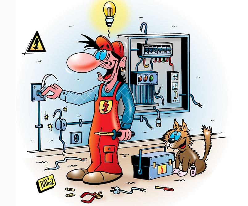 Elektriker am Werke - na, ob das wohl funzt?