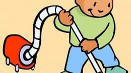 Staub saugen macht Kindern oft Spaß