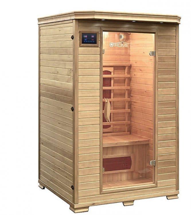 Infrarotkabine aus Hemlockholz gefertigt