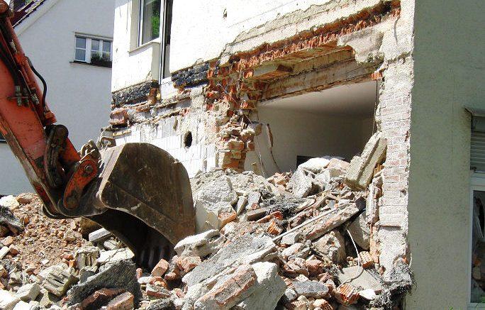 Der Abriss eines Hauses