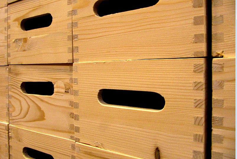 Werkzeug Kisten aus Holz eignen sich auch zum Sortieren