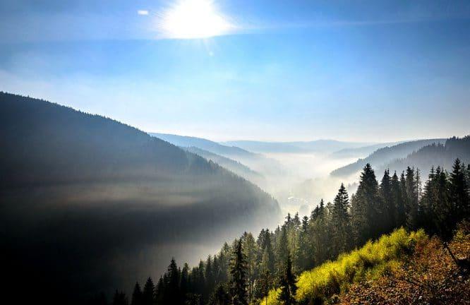 Bilder auf Holz - zum Beispiel die Thüringer Berge