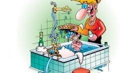 Ein altes Badezimmer tut auch seine Dienste