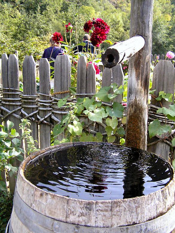 Garten einrichten - Regentonne
