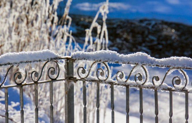 Ein Zaun aus Metall ist besonders stabil aber auch am teuersten. Und nichts für DIY.