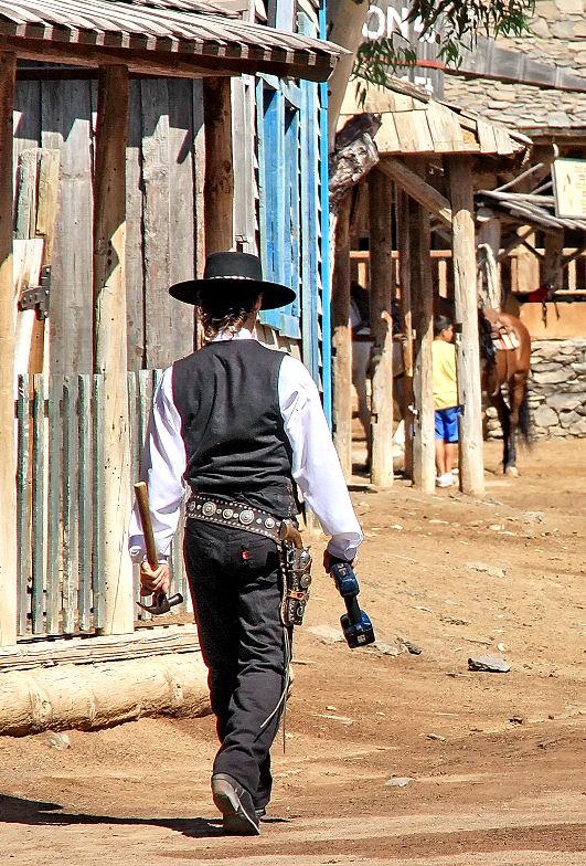 Der Akkuschrauber als moderner Cowboy