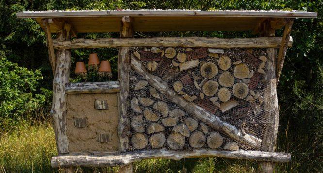 Ein Nützlingshaus für Marienkäfer, Wildbienen & Co bauen