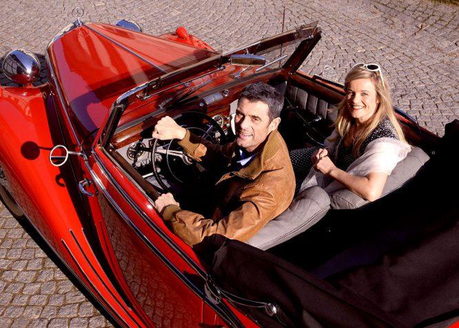 Oldtimer Cabrio auf Hochglanz poliert