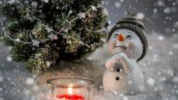 Weihachtsgestecke selber machen - Schneemann aus Suralin