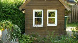 Die Hühnervilla ist auch eine Variante, was man mit einem Gartenhaus machen kann.