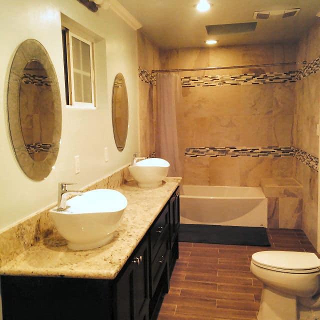 Badezimmer selbst renovieren: Schöne warme Töne