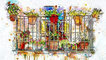 Balkonverschönerung durch viele Blumen ist schon mal eine gute Idee. Doch wohin mit den vielen Blumen?