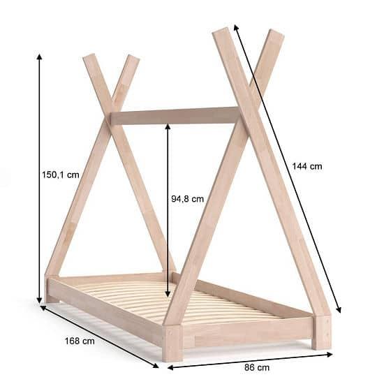 Tipi-Bett selbst bauen - Maße für´s das Tipi Bett