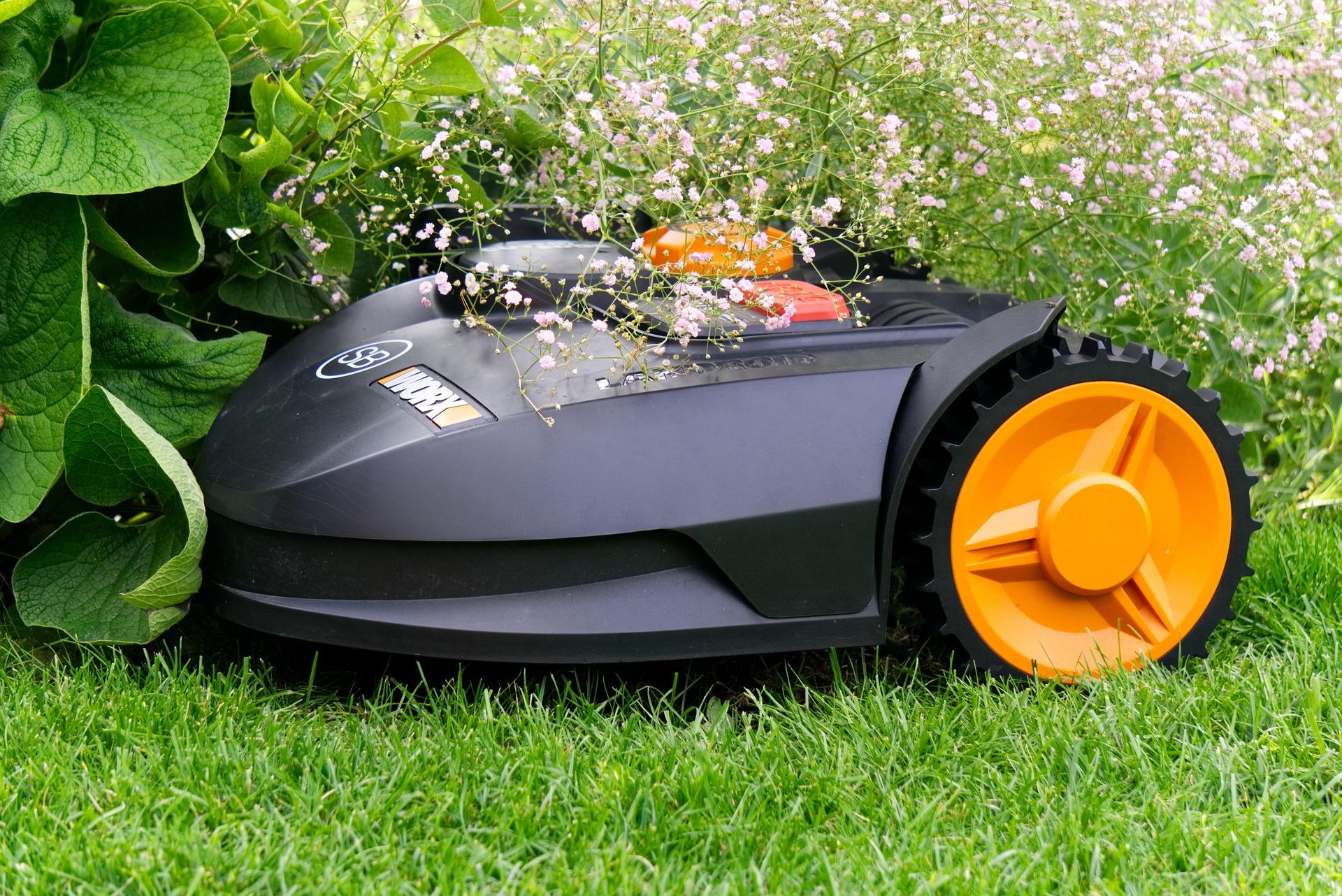 Rasen mähen mit einem Mähroboter
