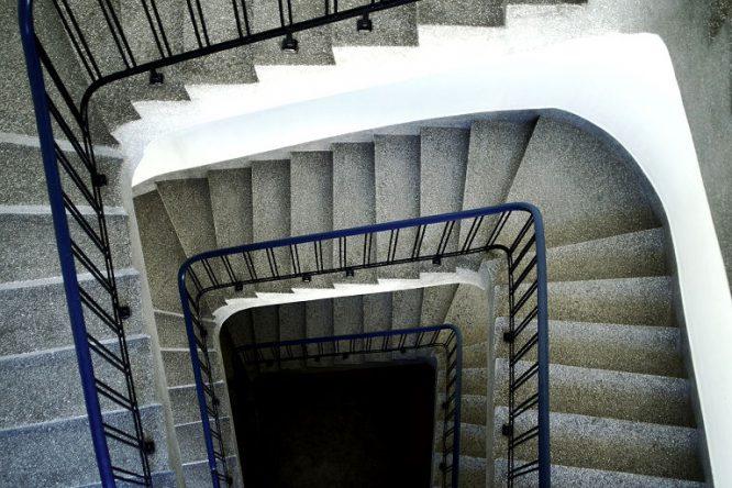 Terrazzo ist typisch für alte Treppenhäuser