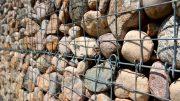 Gabionen Drahtgitter- mit Steinen gefüllt