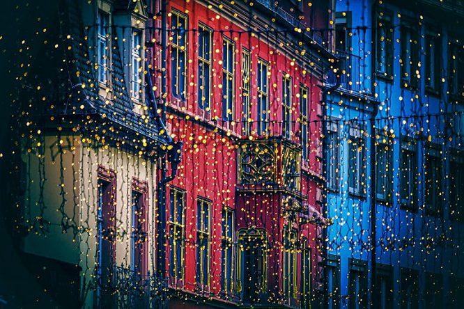 Funktionales Licht im Freien - in der Stadt.