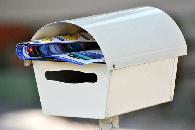 Der Briefkasten - frei stehend