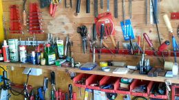 Werkzeug Regal in der Hobby Werkstatt