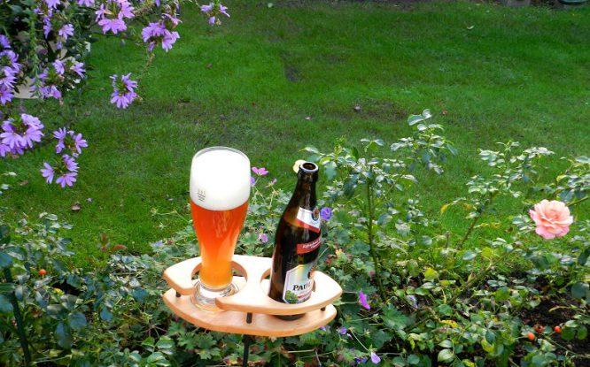 Bierhalter für den Garten