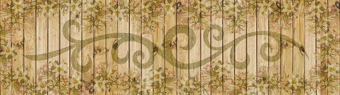 Vintage Paneel aus Holz