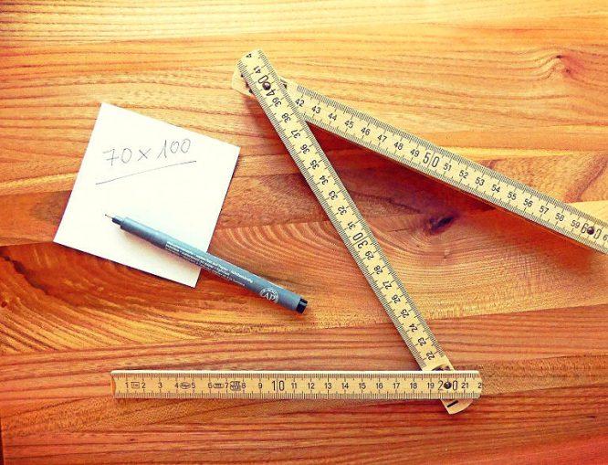Erst messen, dann sägen!