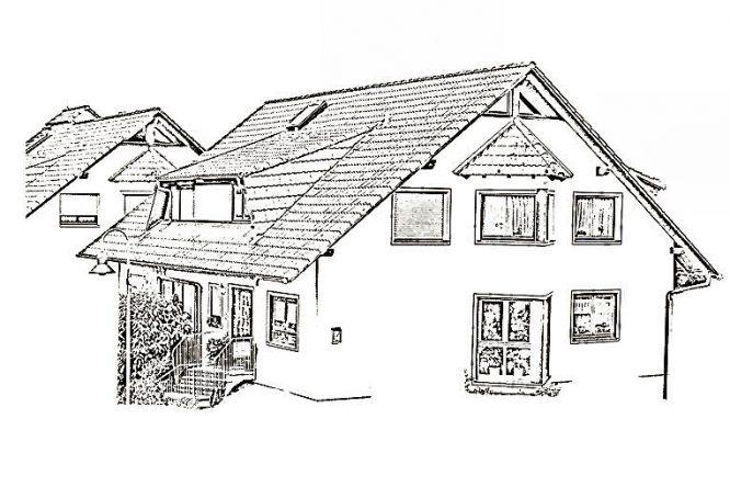 eigenes Heim - Zeichnung