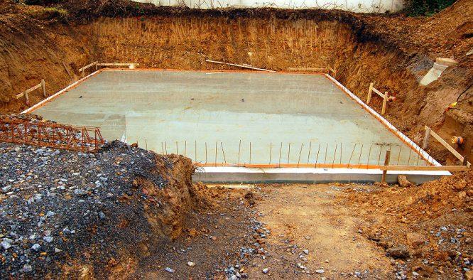 Fundament gießen - so sieht das fertige Fundament dann aus.