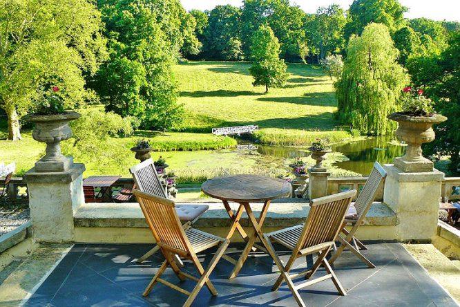 Terrasse im Schlosspark