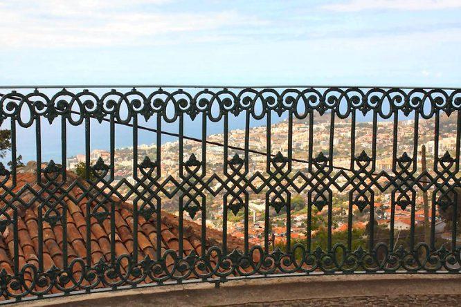schmiedeeiserner Zaun in Madeira