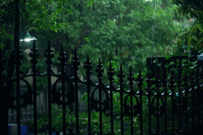 Solch einen schmiedeeisernen Zaun sollte man gut pflegen.