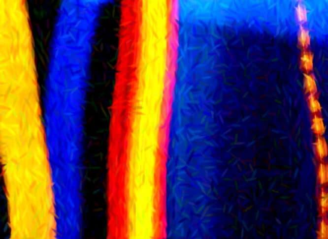 Viel blau, weniger gelb, sehr wenig rot