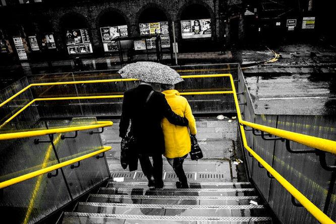 Gelb und grau geht gut zsammen.