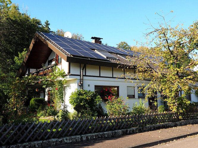 Solaranlage auf dem Süddach